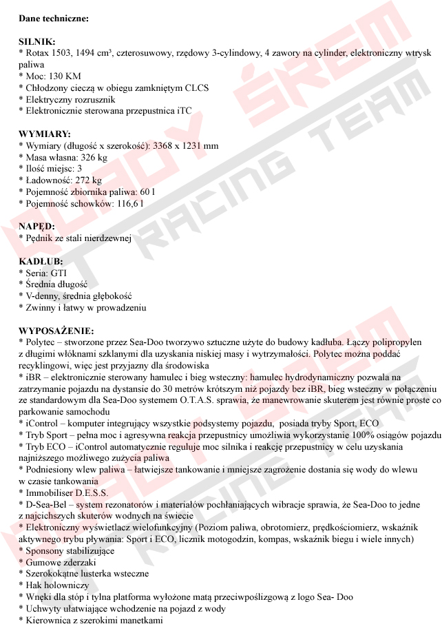 GTI 130 STD SS 2019 OPIS